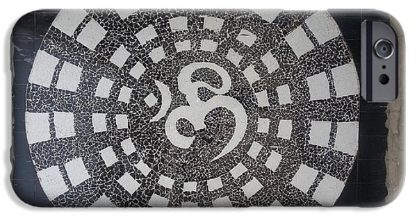 Black And White Reliefs iPhone Cases - Om iPhone Case by Poonam S kohli