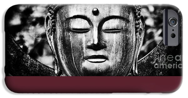 Buddhism iPhone Cases - OM Shanti iPhone Case by Tim Gainey