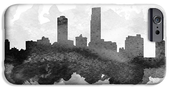 Nebraska Digital iPhone Cases - Omaha Cityscape 11 iPhone Case by Aged Pixel