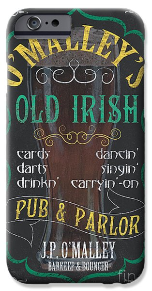 Pitcher iPhone Cases - OMalleys Old Irish Pub iPhone Case by Debbie DeWitt