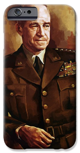 Joints iPhone Cases - Omar Bradley iPhone Case by War Is Hell Store