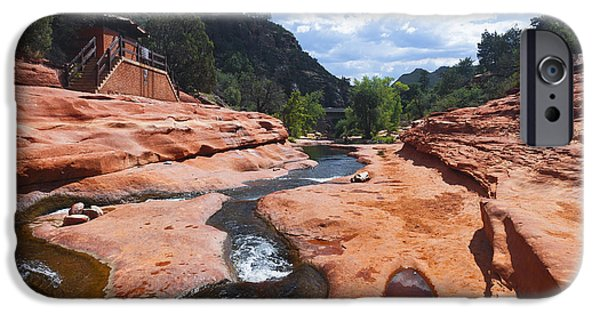 Oak Creek iPhone Cases - On A Slippery Path iPhone Case by Hany Jadaa  Prince John Photography