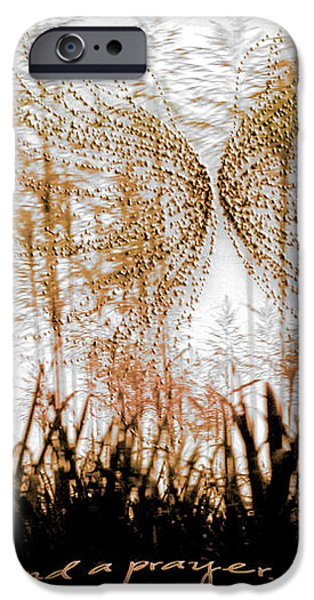 On a Wing and a Prayer iPhone Case by Holly Kempe