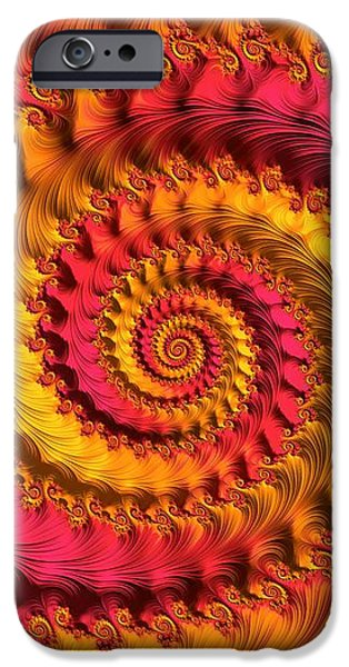 Contemporary Abstract iPhone Cases - On Being Bold and Beautiful iPhone Case by Susan Maxwell Schmidt
