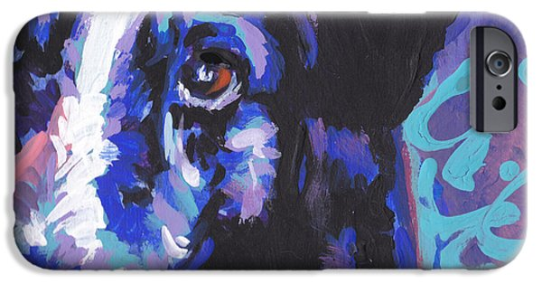 Fun Dog Art iPhone Cases - On Border iPhone Case by Lea