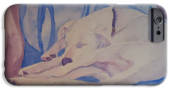 Dog iPhone Cases - On Fallen Blankets iPhone Case by Jenny Armitage