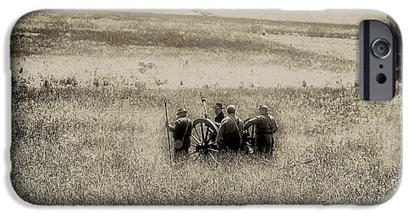 Gettysburg Digital iPhone Cases - On the Battlefield - Gettysburg iPhone Case by Bill Cannon