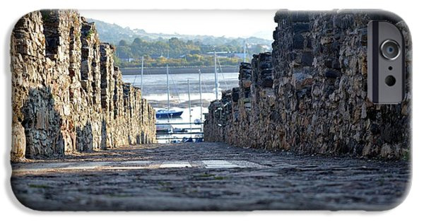 Pathway iPhone Cases - On the Battlements iPhone Case by Jon Rushton