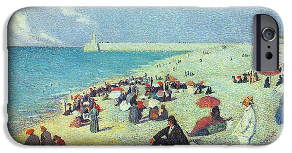 Sandcastles iPhone Cases - On The Beach iPhone Case by Leon Pourtau