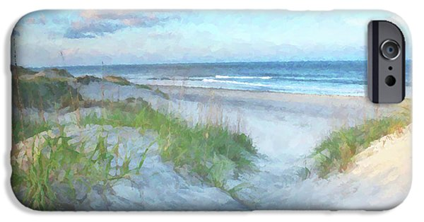 Banks iPhone Cases - On The Beach Watercolor iPhone Case by Randy Steele
