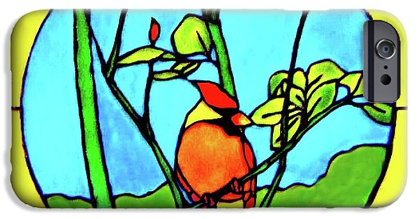 Vivid Glass iPhone Cases - On The Branch iPhone Case by Farah Faizal