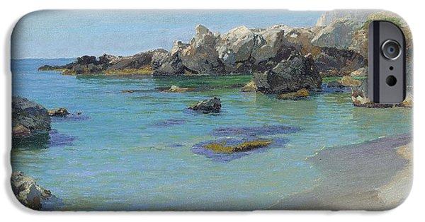 Picturesque iPhone Cases - On the Capri Coast iPhone Case by Paul von Spaun