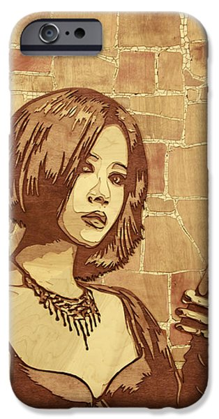 David Sculptures iPhone Cases - On The Clock iPhone Case by Bobby Zeik