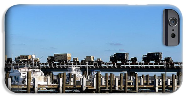 Bay Bridge iPhone Cases - On The Move Over The Bay iPhone Case by Kathy K McClellan