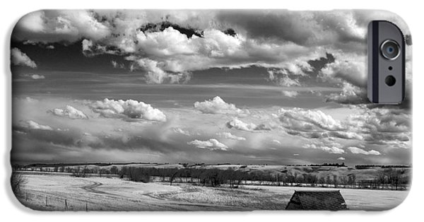 Prairie Landscape iPhone Cases - On the Prairie iPhone Case by Bob Mintie