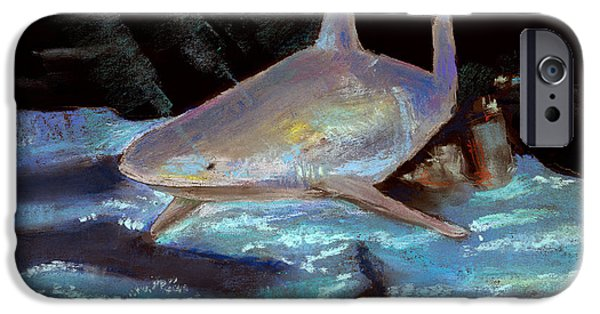 Shark iPhone Cases - On The Prowl iPhone Case by Arline Wagner