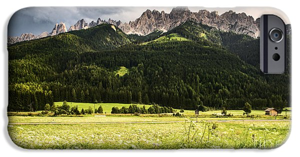 Alps iPhone Cases - On the road iPhone Case by Yuri Santin