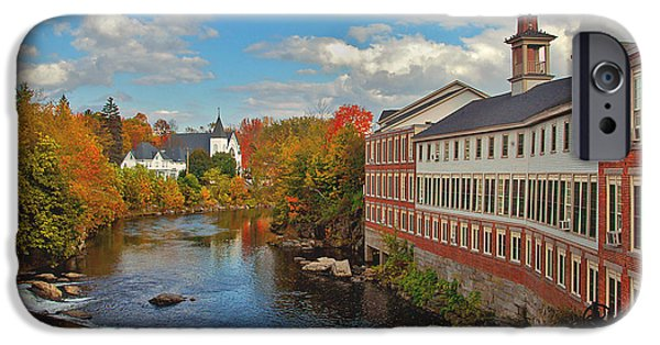 Fall In New England iPhone Cases - On the Souhegan iPhone Case by Joann Vitali