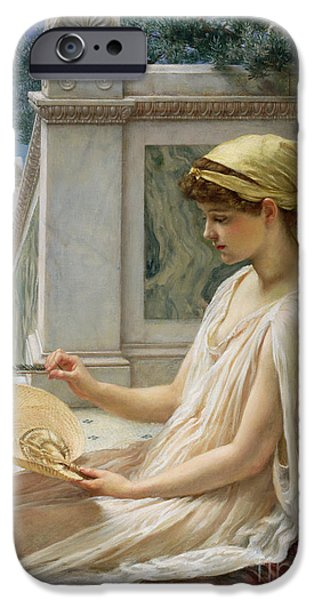 Pillow iPhone Cases - On the Terrace iPhone Case by Sir Edward John Poynter