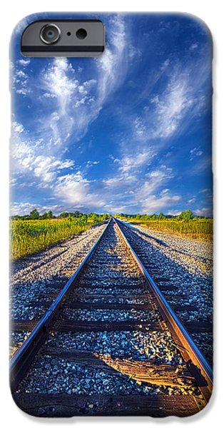 Morning iPhone Cases - On The Way iPhone Case by Phil Koch