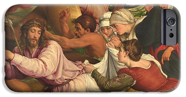 The Followers iPhone Cases - On The Way To Calvary iPhone Case by Jacopo Bassano