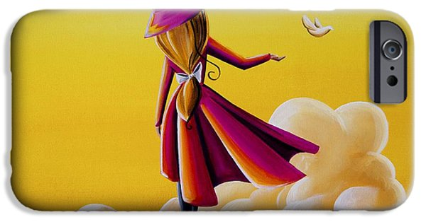 Figures iPhone Cases - On The Wings Of A Dove iPhone Case by Cindy Thornton