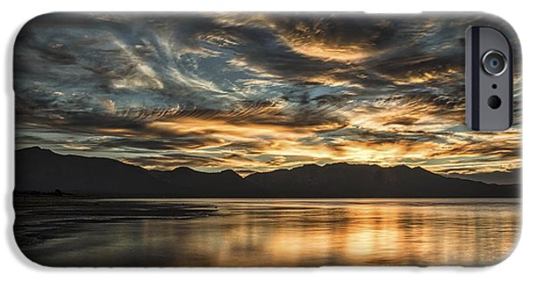 Beach Landscape iPhone Cases - On The Wings Of The Night iPhone Case by Mitch Shindelbower