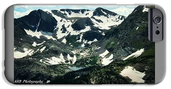 Snow iPhone Cases - On Top of the Mountain iPhone Case by Ashley K Blanchard