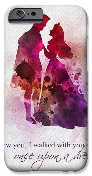 Animation iPhone Cases - Once Upon a Dream iPhone Case by Rebecca Jenkins