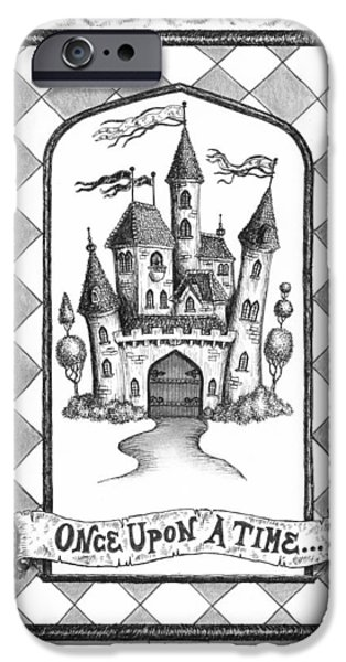 Pen And Ink Drawing Drawings iPhone Cases - Once Upon a Time iPhone Case by Adam Zebediah Joseph