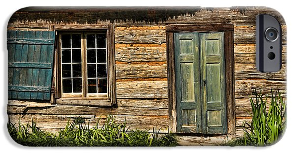 Cabin Window iPhone Cases - Once Upon A Time iPhone Case by Judy Vincent