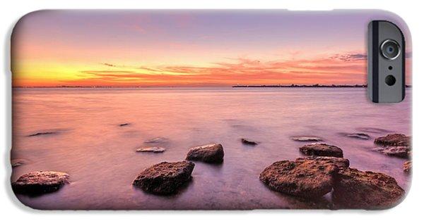 Sunrise iPhone Cases - One Fine Morning iPhone Case by Evelina Kremsdorf