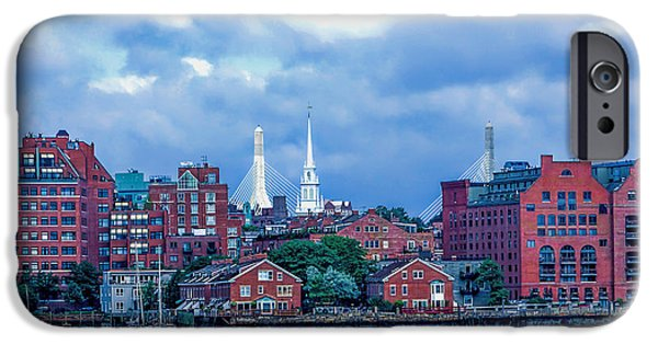 Boston Ma iPhone Cases - One if by land Two if by Sea iPhone Case by Larry  Richardson