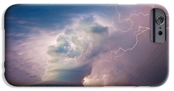 Nebraska iPhone Cases - One Last Bolt iPhone Case by Chris  Allington