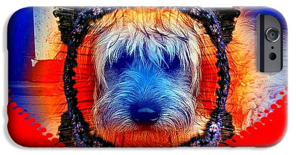 Puppy Digital iPhone Cases - One Little Indian iPhone Case by Robert Orinski