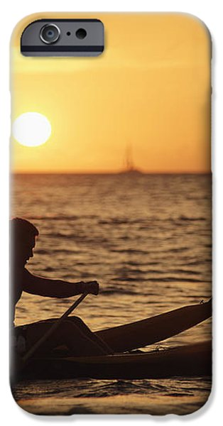 One Man Canoe iPhone Case by Sri Maiava Rusden - Printscapes
