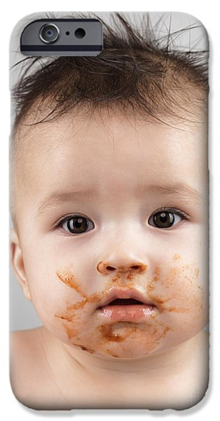 One Messy Baby Boy iPhone Case by Oleksiy Maksymenko