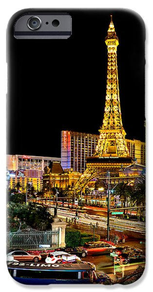 Traffic Sign iPhone Cases - One Night In Vegas iPhone Case by Az Jackson