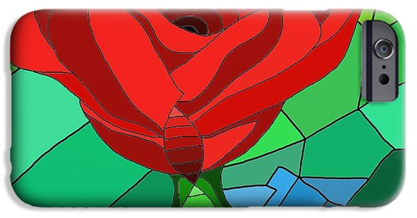 Technical iPhone Cases - One Rose iPhone Case by Adam Norman