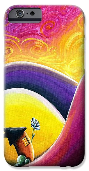Fuschia iPhone Cases - One Song iPhone Case by Cindy Thornton