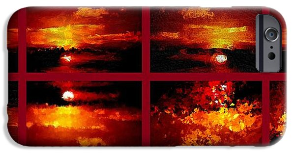Unset iPhone Cases - One Sunset Many Interpretations iPhone Case by Bruce Nutting