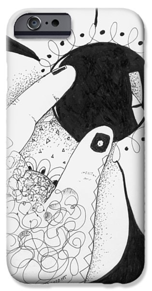 Inner World Drawings iPhone Cases - One Way Or Another iPhone Case by Helena Tiainen