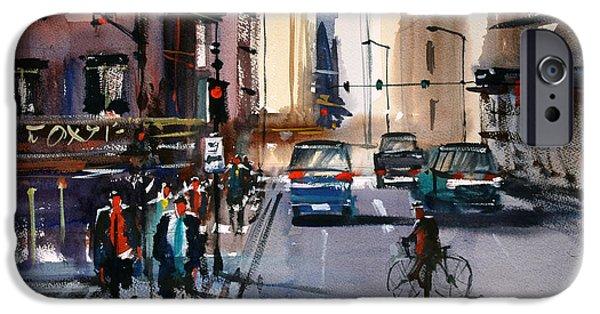 Figure iPhone Cases - One Way Street - Chicago iPhone Case by Ryan Radke