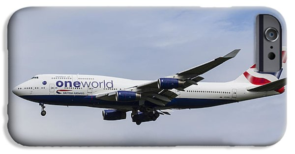 Boeing 747 iPhone Cases - One World Boeing 747 iPhone Case by David Pyatt