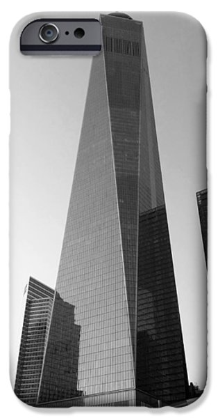 Freedom iPhone Cases - One World Trade B W iPhone Case by Rob Hans