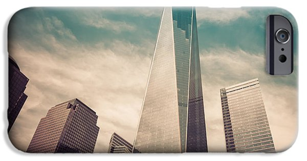 The Twin Towers Of The World Trade Center iPhone Cases - One World Trade Center New York City iPhone Case by Robert Bellomy