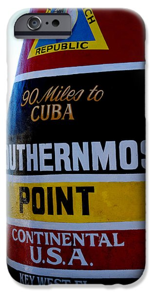 Susanne Van Hulst iPhone Cases - Only 90 Miles to Cuba iPhone Case by Susanne Van Hulst