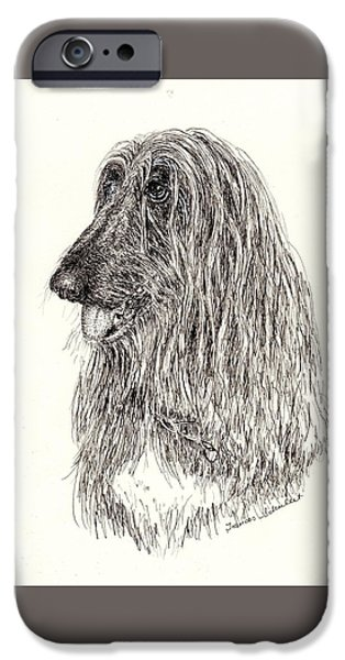 Dogs iPhone Cases - Onyx iPhone Case by Frances Schuleit