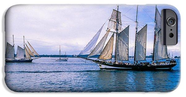 Sailboat Ocean iPhone Cases - Oosterschelde Topsail schooner Neth iPhone Case by Maslyaev Yury