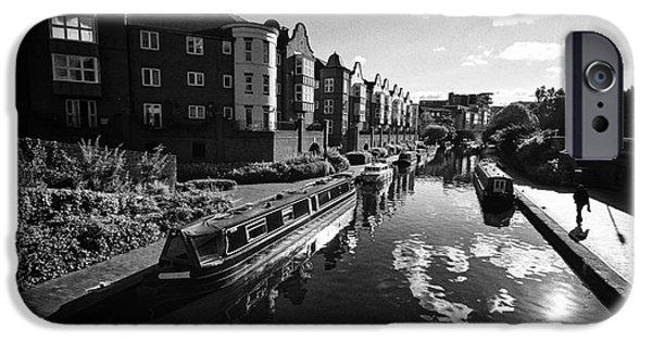 Canal Street Line iPhone Cases - oozells street loop area birmingham canal navigations brindleys old main line Birmingham UK iPhone Case by Joe Fox